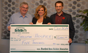 BHBA Stedman Hospice Cheque